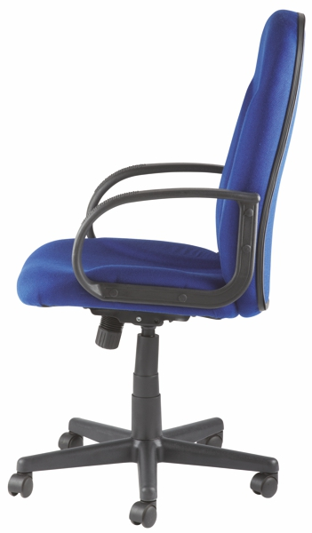 high back executive fabric office chair blue